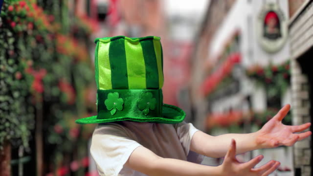 boy in green irish hat on st's patrick day - comedian stock videos & royalty-free footage