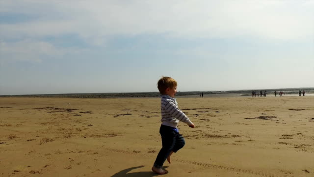 boy on beach - south shields stock videos & royalty-free footage