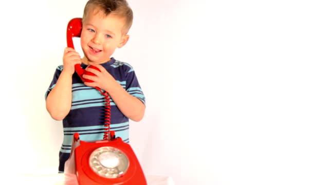 Boy on telephone