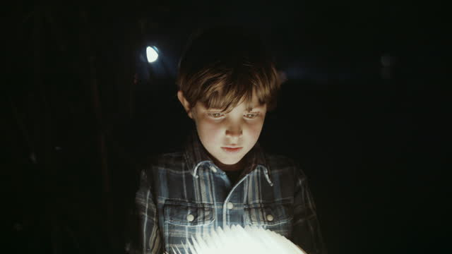 boy opening magical lamp - electric lamp stock videos & royalty-free footage