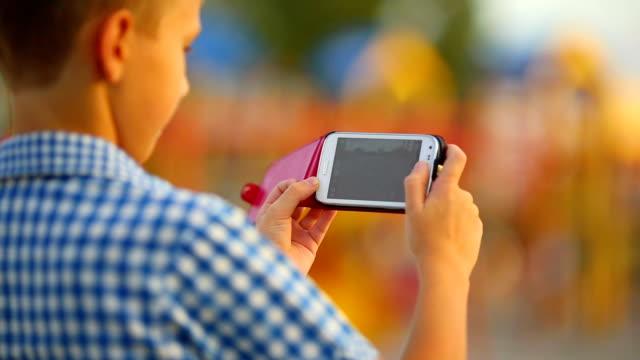 Junge Fotografen smartphone