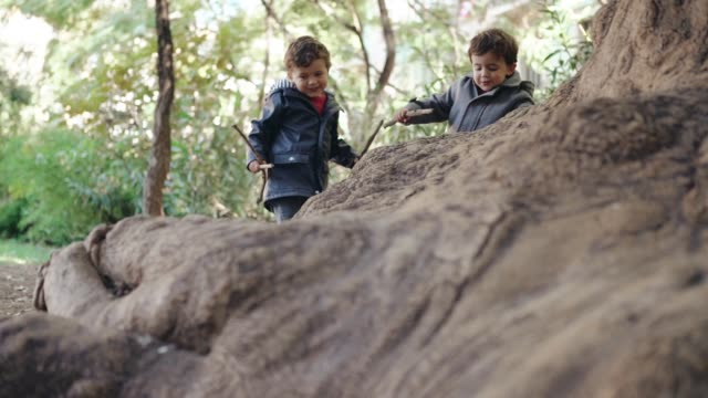jungen spielen im park - stab stock-videos und b-roll-filmmaterial