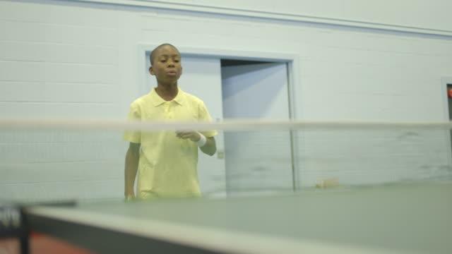 boy playing table tennis - table tennis bat stock videos & royalty-free footage