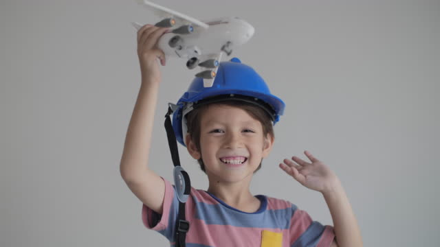 boy playing with toy plane at home - 2 3 years stock videos & royalty-free footage