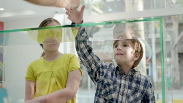 vídeos de stock, filmes e b-roll de garoto pegando sorvete servido no balcão - tossindo