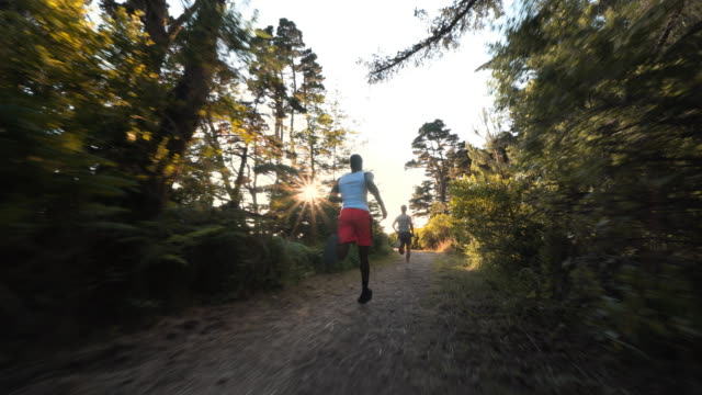 boy running down trail, bandon, or - african ethnicity stock videos & royalty-free footage
