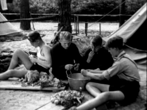 boy scout camp - scout association stock videos & royalty-free footage