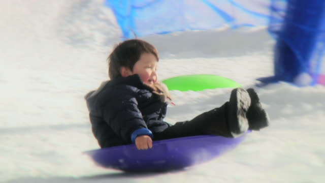Boy Sledding 2 (HD)