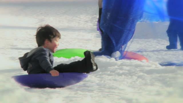 Boy Sledding (HD)