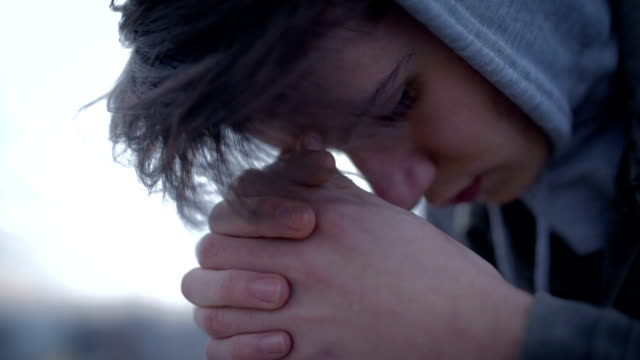boy teenager with depression - depression sadness stock videos & royalty-free footage