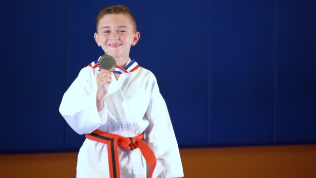 boy wins taekwondo competition - 6 7 years stock videos & royalty-free footage