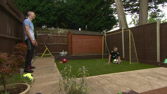 boy with cerebral palsy sent 'hateful messages' on tiktok after sharing football clip; england: london: uxbridge: int 13-year-old rhys porter... - bedroom stock videos & royalty-free footage