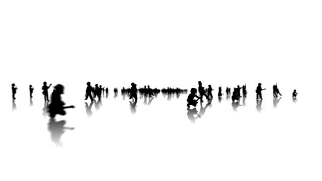 Junge mit Gitarre silhouette