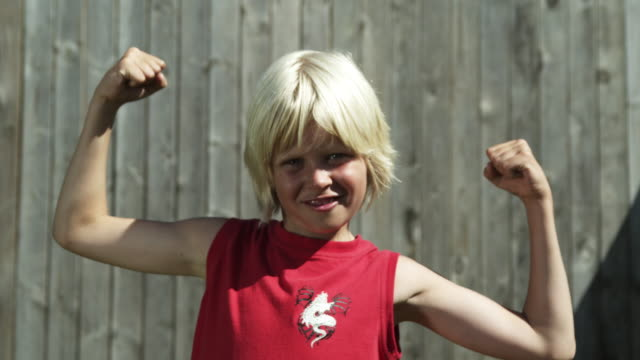 Boy with muscles (Shot on Red)
