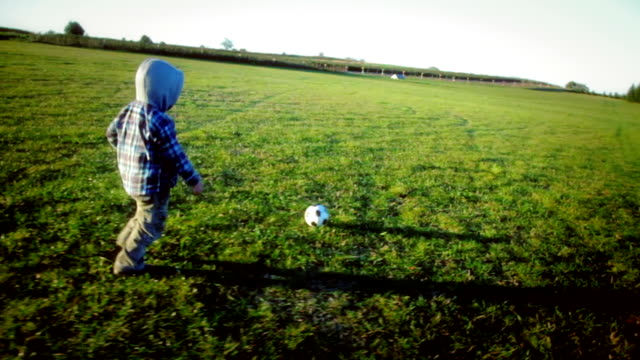 boy with soccer ball - baby boys stock videos & royalty-free footage
