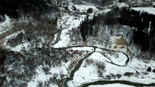 boyd conservation park of woodbridge in winter, ontario, canada - ontario canada stock videos & royalty-free footage