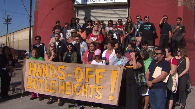 KTLA Boyle Heights Activists Protest Gentrification and Art Galleries
