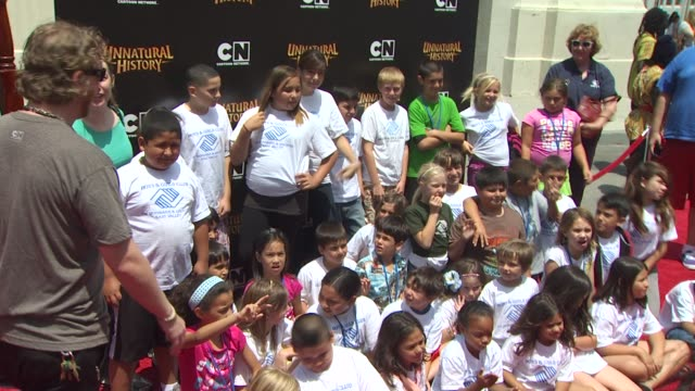 boys and girls club kids at the cartoon network's 'unnatural history' premiere at burbank ca. - the history boys stock videos & royalty-free footage