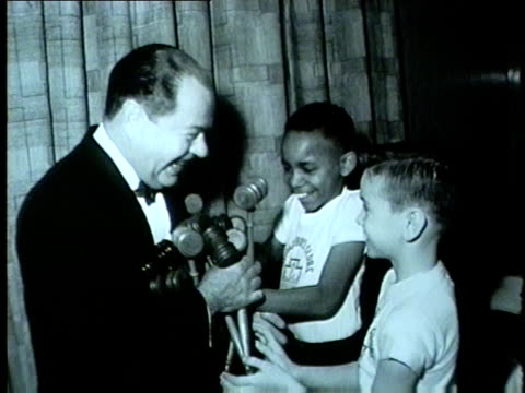 boys club members bring gavels to judge in 1962 - gavel stock videos & royalty-free footage