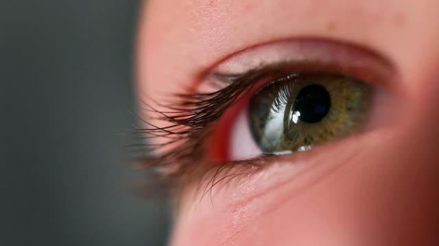 vídeos y material grabado en eventos de stock de boy's eye - parpadear