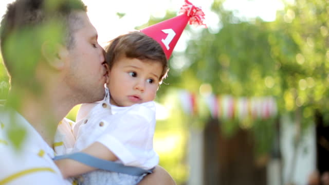 boy's first birthday party - birthday stock videos & royalty-free footage