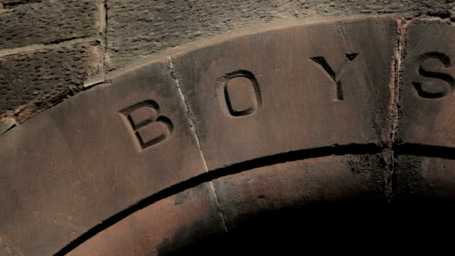 boys only entrance to a victorian school - patriarchy stock videos & royalty-free footage