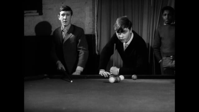 boys play snooker and table tennis at a youth club; 1960 - youth club stock videos & royalty-free footage