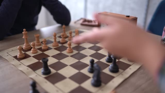 boys playing chess - hobbies stock videos & royalty-free footage