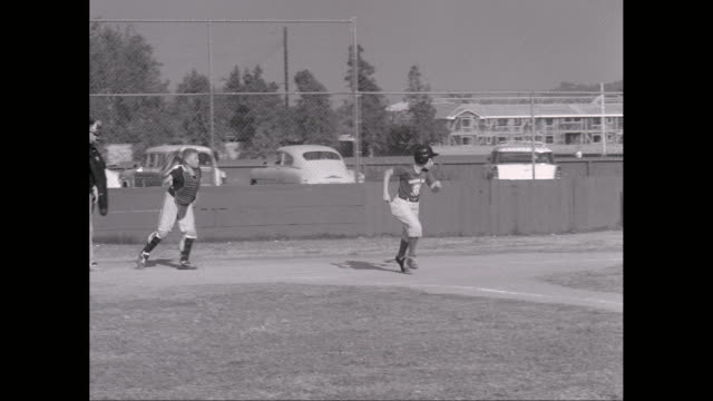 ms ts boys playing little league / united states - youth baseball and softball league stock videos and b-roll footage