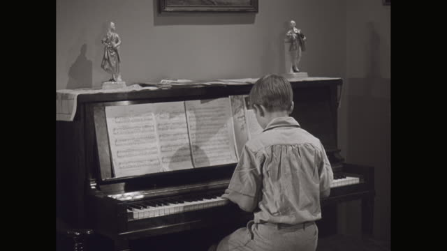 ms boys playing piano / united states - piano stock videos and b-roll footage