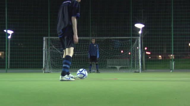 ws boys (14-15) playing soccer, london, uk - goalkeeper stock videos & royalty-free footage