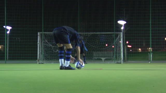 ws boys (14-15) playing soccer, london, uk - hitting stock videos & royalty-free footage