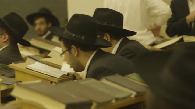 boys praying in torah school, montage - judaism stock videos & royalty-free footage