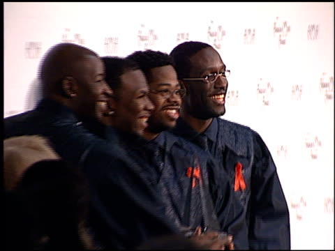 boyz ii men at the american music awards 1998 at the shrine auditorium in los angeles, california on january 26, 1998. - shrine auditorium stock videos & royalty-free footage