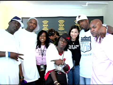boyz n da hood sexy chocolate and michelle cartier at the xm satellite radio rocks the style villa day one at the sagamore hotel in miami beach... - bonnet stock videos & royalty-free footage