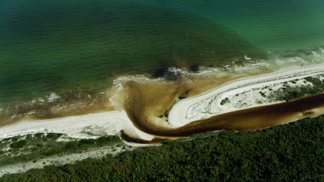 brackish water flows into sea in mexico - 北半球点の映像素材/bロール