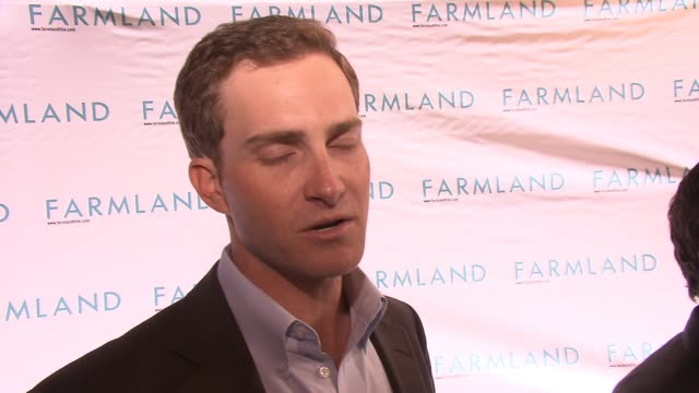 brad bellah on being glad to be a part of farmland, on his life, on the misconception of farmers and ranchers, and farmland was an opportunity to... - tribeca festival stock videos & royalty-free footage