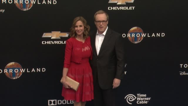 brad bird at the tomorrowland los angeles premiere at amc downtown disney 12 theater on may 09 2015 in anaheim california - anaheim california stock videos and b-roll footage