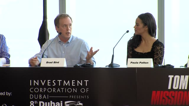 brad bird on being attracted to the franchise tom cruise favourite action movies and more at the mission impossible ghost protocol press conference... - tom cruise bildbanksvideor och videomaterial från bakom kulisserna