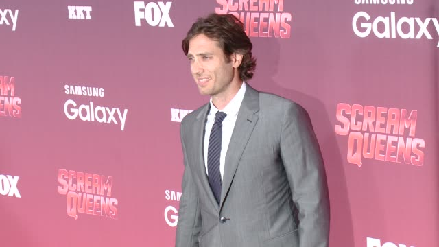 "brad falchuk at the ""scream queens"" los angeles premiere & party at the wilshire ebell theatre on september 21, 2015 in los angeles, california. - wilshire ebell theatre stock videos & royalty-free footage"