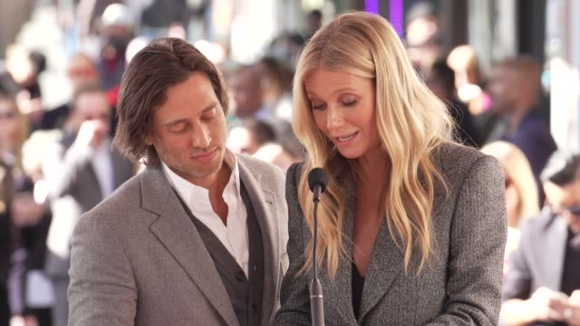SPEECH Brad Falchuk Gwyneth Paltrow at the Ryan Murphy Honored with a Star on the Hollywood Walk of Fame on December 4 2018 in Hollywood California