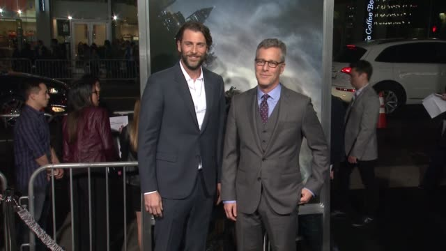 """brad fuller & andrew form at the """"project almanac"""" los angeles premiere at tcl chinese theatre on january 27, 2015 in hollywood, california. - tcl chinese theatre stock videos & royalty-free footage"""