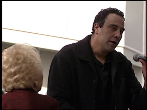 brad garrett at the dediction of doris roberts's walk of fame star at the hollywood walk of fame in hollywood, california on february 10, 2003. - doris roberts stock videos & royalty-free footage