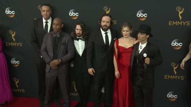 Brad Garrett Bokeem Woodbine Angus Sampson Zahn McClarnon and Rachel Keller at the 68th Annual Primetime Emmy Awards Arrivals at Microsoft Theater on...