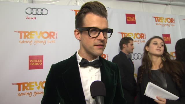 brad goreski on why he supports the trevor project what he is most looking forward to and why katy perry is deserving of the trevor hero award at the... - the trevor project stock videos and b-roll footage