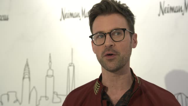 brad goreski on why this opening is exciting for him at neiman marcus hudson yards grand opening at hudson yards on march 14, 2019 in new york city. - neiman marcus stock videos & royalty-free footage