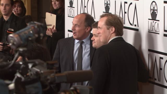 brad lewis, patton oswalt, and brad bird at the film critics awards at intercontinental in los angeles, california on january 12, 2008. - 評論家点の映像素材/bロール