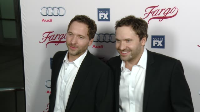 brad mann and todd mann at fx's fargo los angeles premiere at arclight cinemas on october 07 2015 in hollywood california - arclight cinemas hollywood stock videos & royalty-free footage