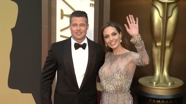 Brad Pitt and Angelina Jolie 86th Annual Academy Awards Arrivals at Hollywood Highland Center on March 02 2014 in Hollywood California