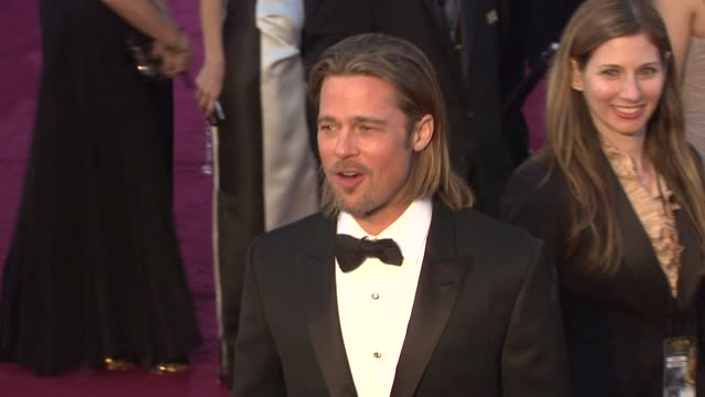 Brad Pitt and Angelina Jolie at 84th Annual Academy Awards Arrivals on 2/26/12 in Hollywood CA